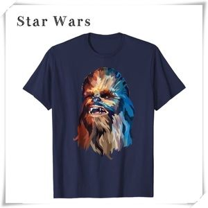 Star Wars Chewbacca Watercolor Art Graphic T-Shirt
